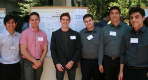 Six of the seven students on the IBM Polymer Discovery team. (Photo credit: Tim Stephens)