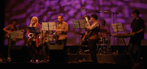 Local jazz band Terminal Degree opens the Sammys with a sampling of game music covers (photo credit: Tyler Walicek)