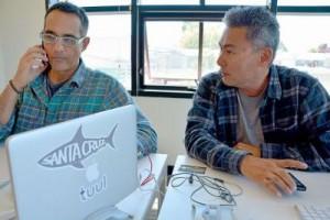 Tuul founders, Toby Corey and Wayne Tsuchitani (photo credit: Emma Brokaw)