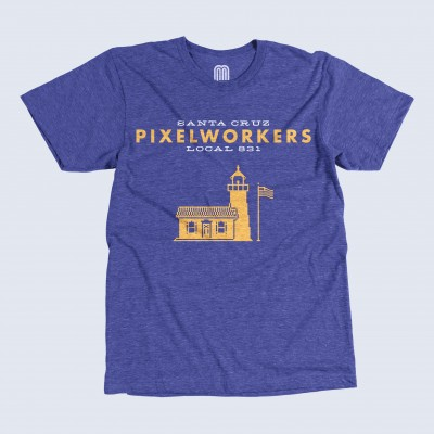 Cosmic Sponsors Santa Cruz Local 831 United Pixelworkers T-shirt