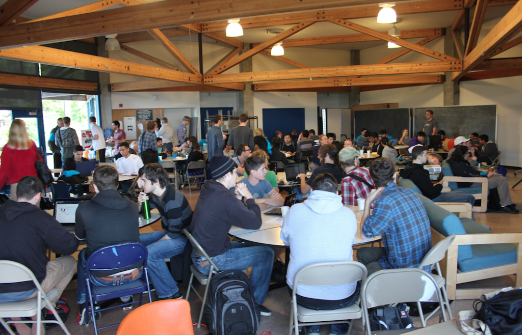 Students gather at last year's Hack UCSC 2014