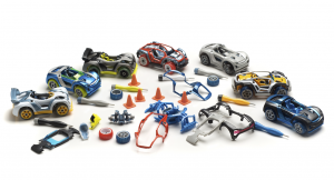 Each car has 12 removable components for endless mixing, matching and customizing.   (contributed)