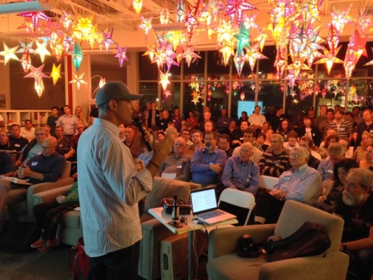Full house at Santa Cruz Tech Meetup, local tech on the rise