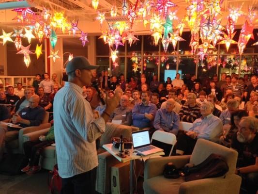Full house at Santa Cruz Tech Meetup, local tech on the rise