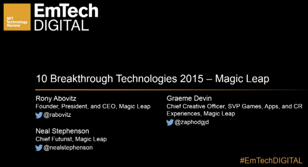 Watch: Magic Leap Fireside Chat