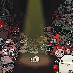 FREAK SHOW A poster promoting Edmund McMillen's game 'The Binding of Isaac.' (Source: Good Times)