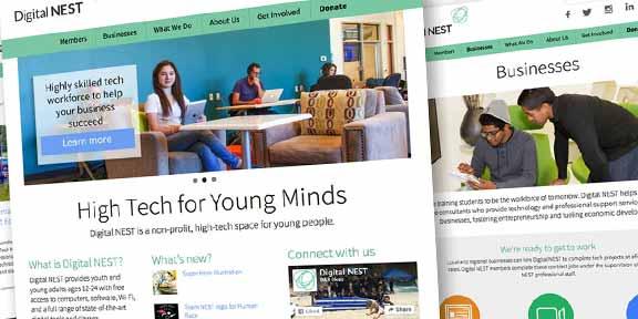 Digital NEST Launches New Website by Scott Design