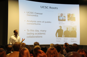 Charlie Vaske talks about the historic UC Santa Cruz research connections impacting the formation of NantOmics. (Credit: Jan Janes Media)