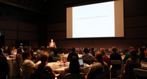 Jim Dempsey, Executive Director of Berkeley Center for Law and Technology, delivered the opening address to the UCSC DataLex Symposium Oct. 13. (Credit: Jan Janes)