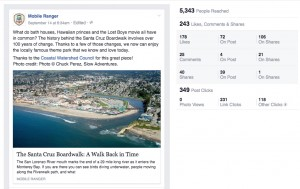 An example of a social media post and it's results on Mobile Ranger's Facebook page. Contributed.