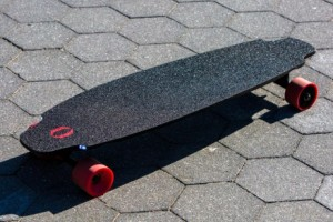Inboard is the world's first skateboard with motors in the wheels. (Contributed)