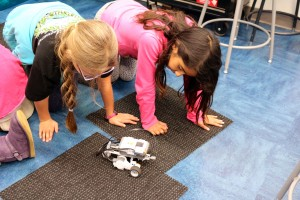 Gateway students develop computational thinking and practice problem solving while programming a Lego NXT robot. (Contributed/Gateway)