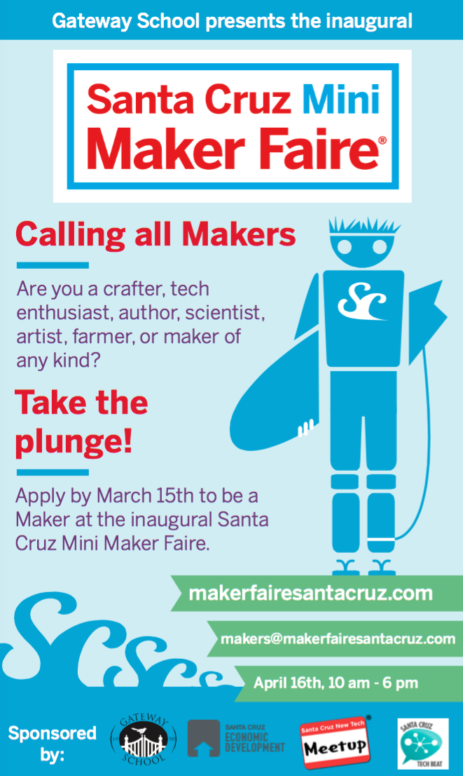 calling all makers santa cruz mini maker faire planned for april santa cruz tech beat. Black Bedroom Furniture Sets. Home Design Ideas