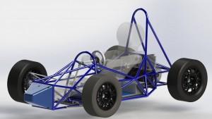 Vehicle CAD rendering of a Formula Slug design in progress. (Contributed)