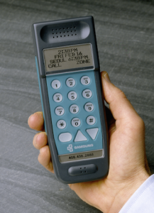 IDE designed the very first Samsung cell phone, back in 1986. At a time of bag phones and thick brick phones, this design was very compact and revolutionary. (Contributed)