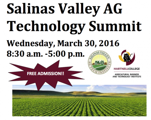 3rd Annual Salinas Valley AgTech Summit is Mar 30