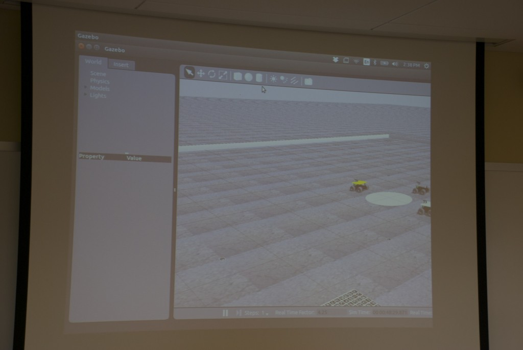 Cabrillo's programmed Swarmies on screen in their virtual landscape. (Contributed)