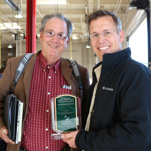 Illucen management team Stephen Johnson and Steve Schimmel won the 2016 Ag Tech Summit Best Start-Up Pitch Award for their plan to utilize all stages of the black soldier fly for food waste reduction and animal feed. (Credit: Jan Janes Media)