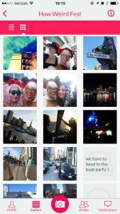 Gluon screenshot shows inside an event album on the iOS app.