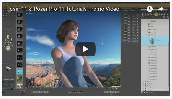 Learn Poser 11 & Poser Pro 11 with NEW Video Tutorials