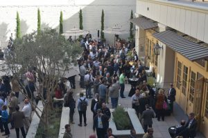 Attendees mingle outside of the Forbes AgTech Innovation Showcase. (Credit: Forbes Media/Lux)
