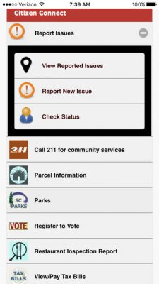 Citizen Connect app wins statewide award