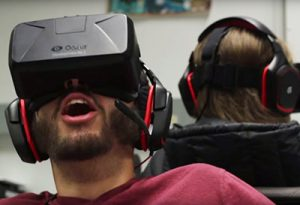 Shackle, another official IndieCade nominee, was created for the Oculus Rift virtual reality system by a team of nine UCSC undergrads. (Source: UCSC)