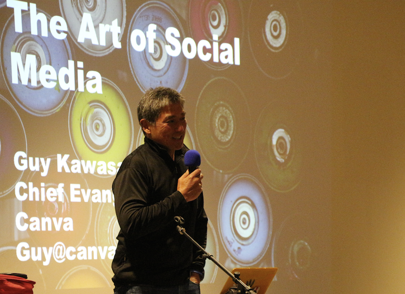"""Guy Kawasaki – now a part time Santa Cruzan! – offered warmth and humor as he described the do's and don'ts of social media and how he """"makes the sausage."""""""