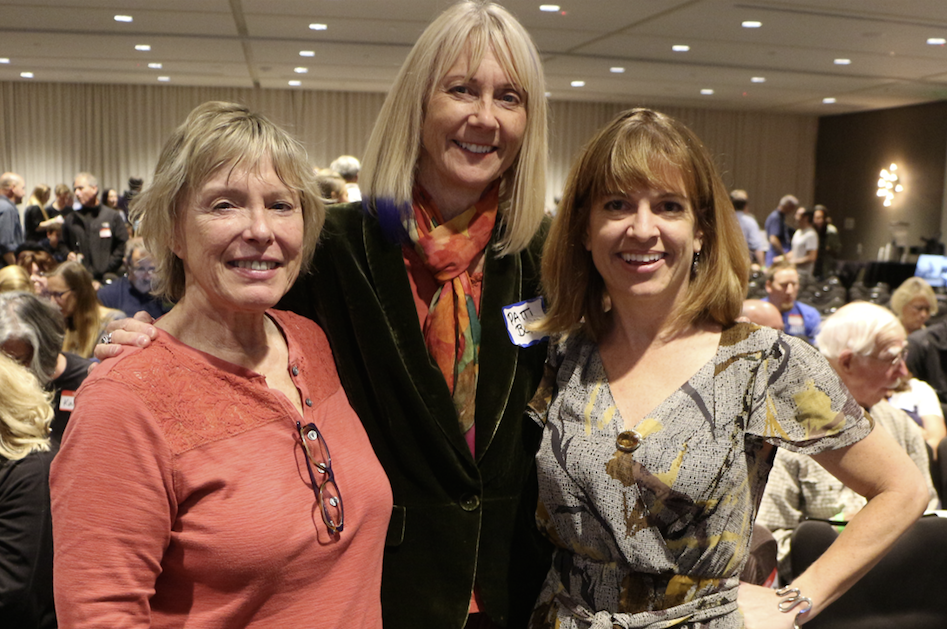 Technology and marketing professionals were out in full force at the November Santa Cruz New Tech MeetUp, including web designer Melody Sharp, marketer and publicist Patti Bond and social media coach Karen Kefauver.