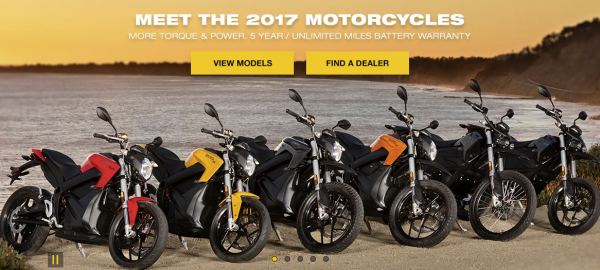 Zero Motocycles announces 2017 lineup