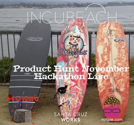 Incubeach presents Product Hunt Hackathon live