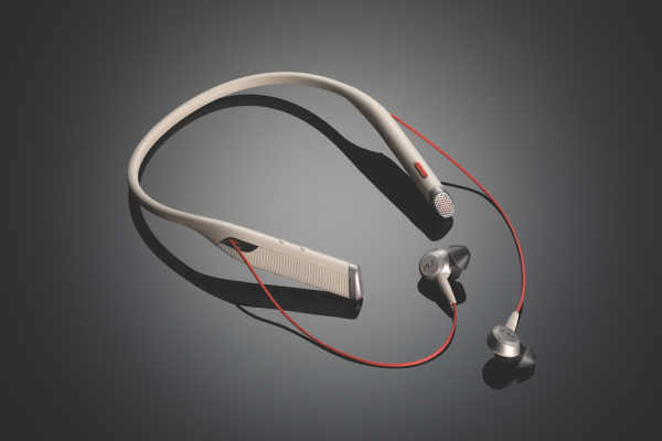 Plantronics introduces its first bluetooth neckband headset with earbuds