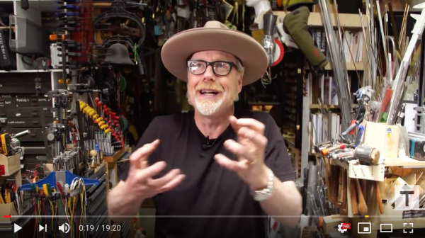 Watch: Adam Savage Builds a Onewheel Electric Skateboard