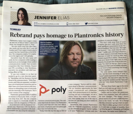 Rebrand pays homage to Plantronics history