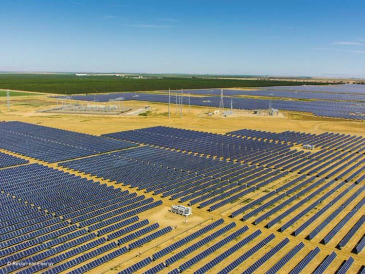 Solar panels in fields