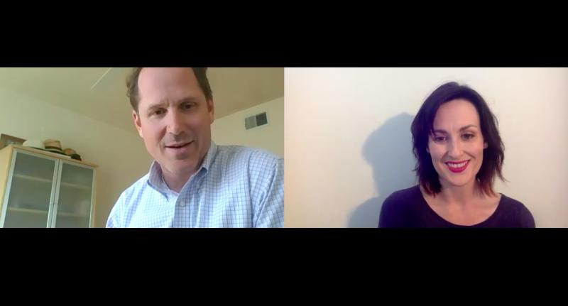 Sarah Vickers-Webb of Santa Cruz Tech beat interviewing Josh Metz of Montery DART