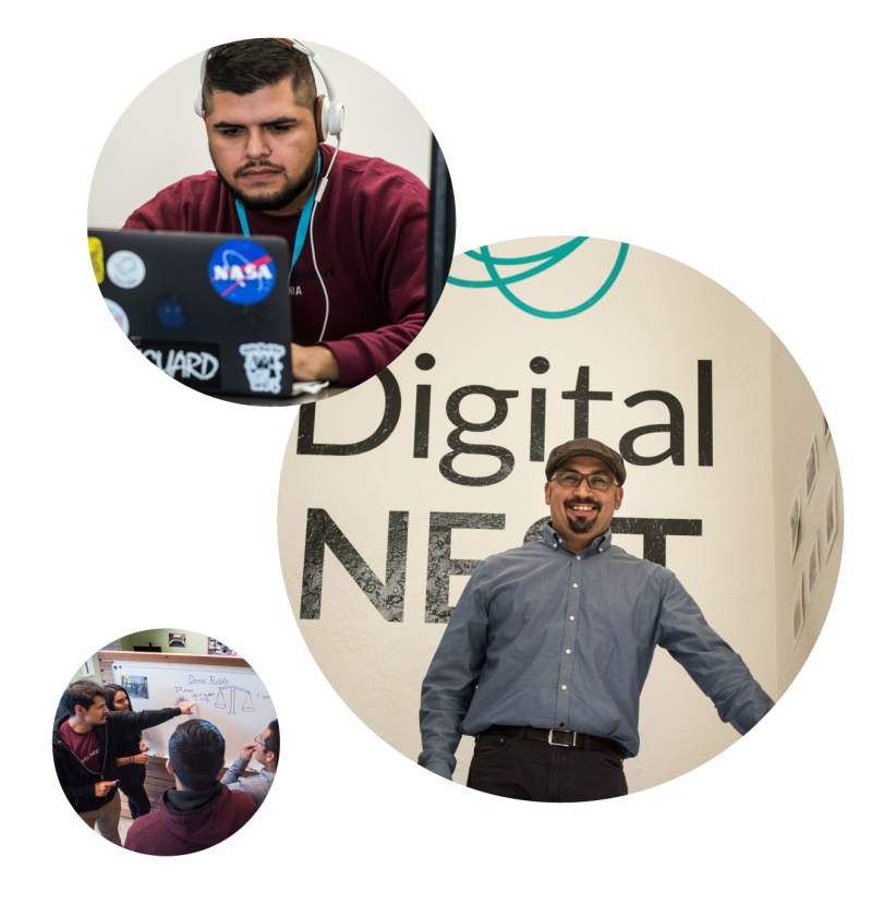People working at DigitalNEST including founder Jacob Martinez