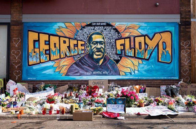 Photo of George Floyd memorial