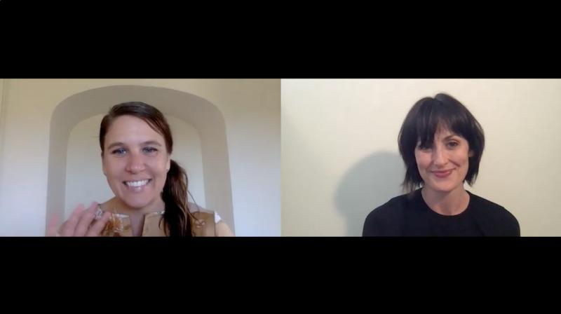 Sarah Vickers-Webb of Santa Cruz Tech Beat interviewing Maya Deano of NextSpace Santa Cruz over Zoom