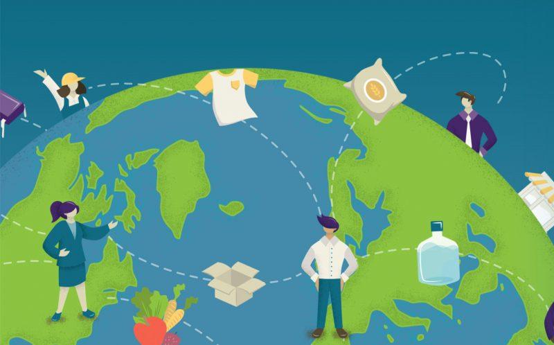 Image representing supply chain across world
