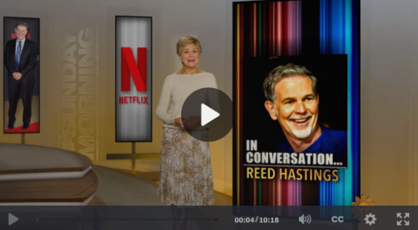 Watch: CBS interview with Reed Hastings: How Netflix reinvented entertainment — and corporate culture