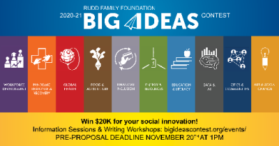 Big Ideas contest offers up to $20,000 for big ideas in social innovation