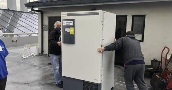 Monterey Bay Aquarium lends ultra-cold freezer for vaccine storage